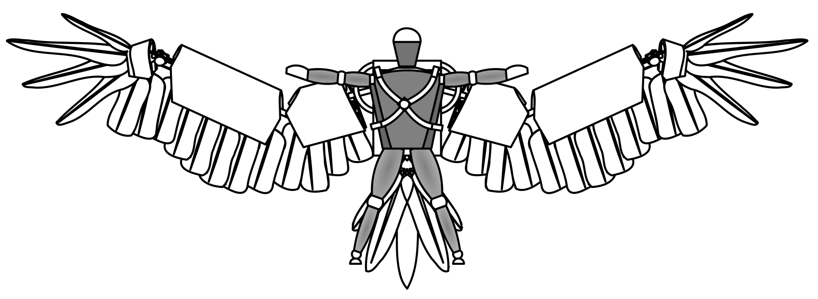Exoskeleton With Wings